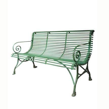 antik gartenbank 3 sitzer aus schmiedeeisen isidore. Black Bedroom Furniture Sets. Home Design Ideas