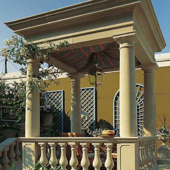 Gartenpavillon Holz Rechteckig ~ Antiker Garten Pavillon aus Stein  rechteckig • Gartentraum de
