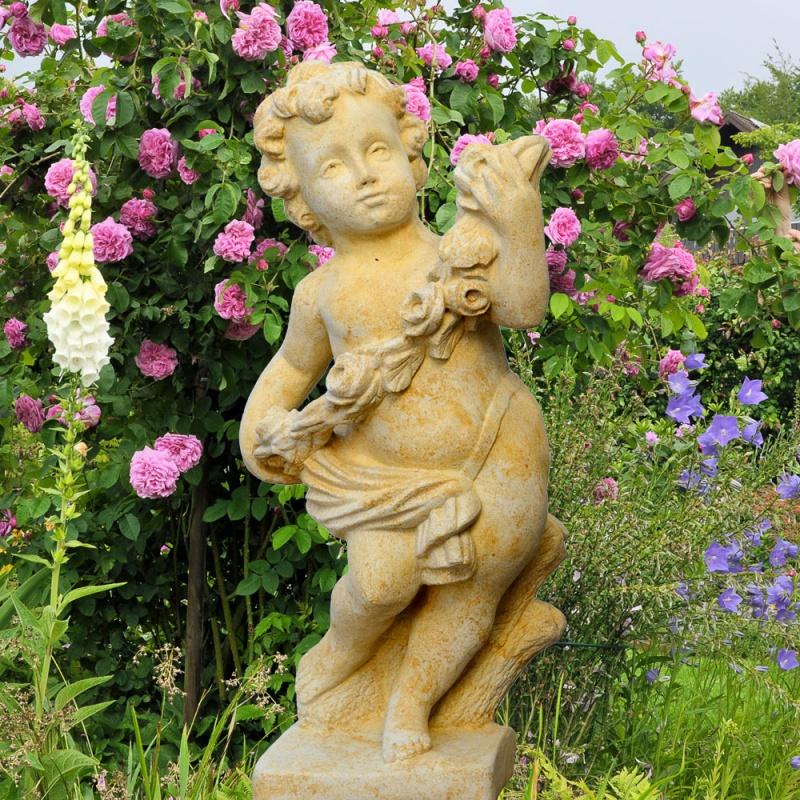 Barock Putte Steinfigur - Amor • Gartentraum.de