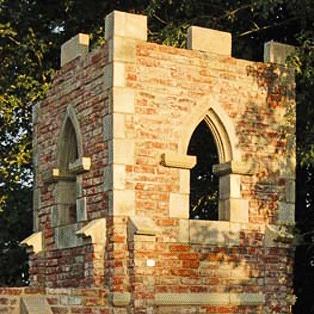 deko garten ruine mit kirchturm ashill church. Black Bedroom Furniture Sets. Home Design Ideas