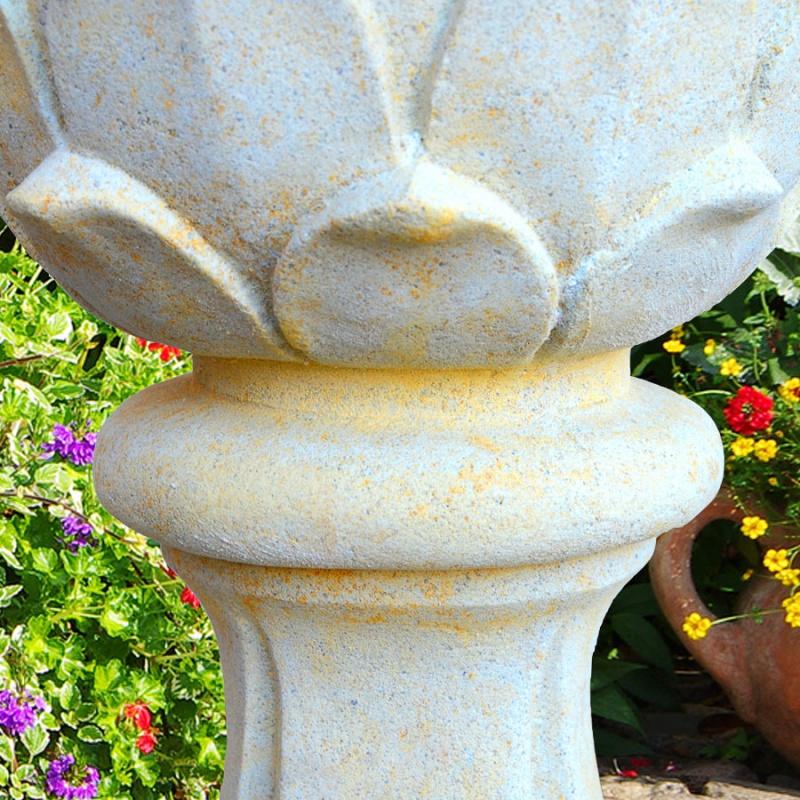 deko pinienzapfen aus stein toskana