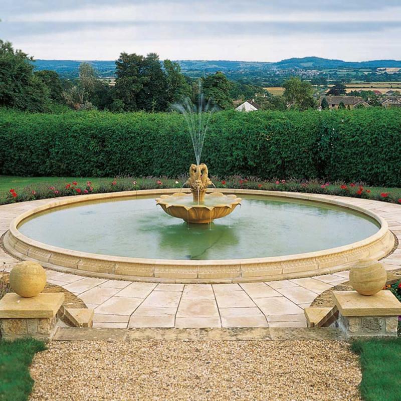 Garten Springbrunnen Sandstein groß • Gartentraum.de