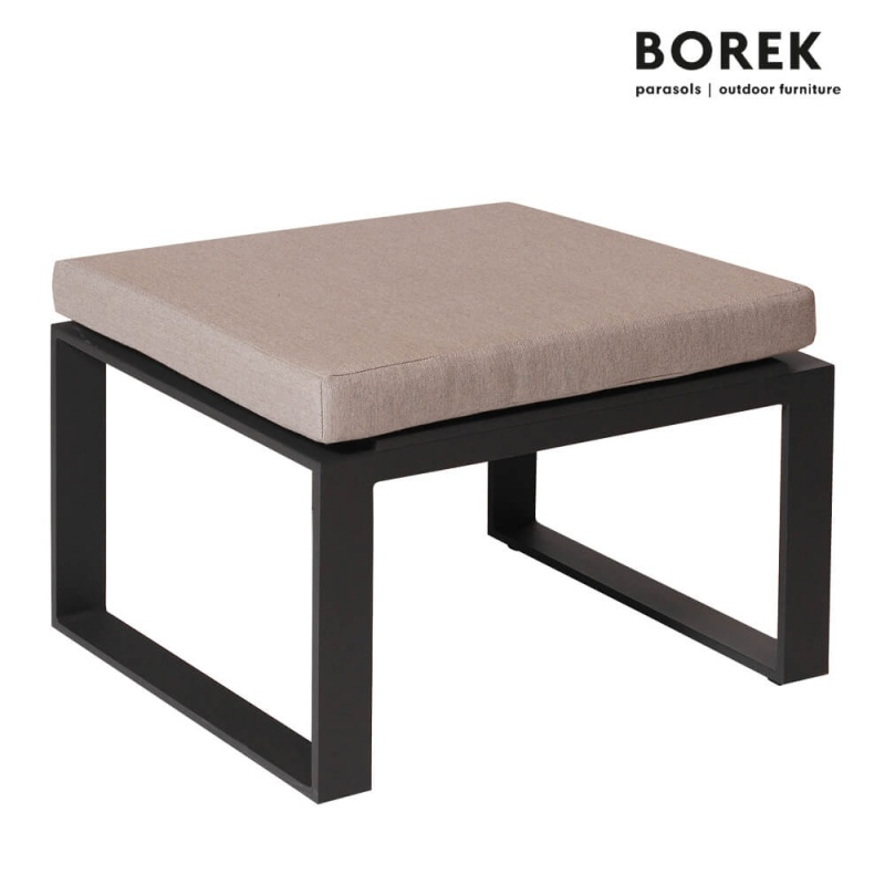 garten hocker samos wei grau. Black Bedroom Furniture Sets. Home Design Ideas