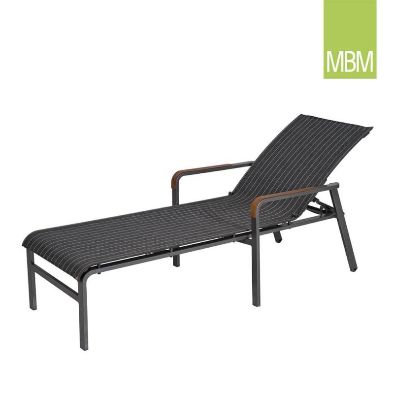 garten liegestuhl mit rollen kennedy mbm. Black Bedroom Furniture Sets. Home Design Ideas