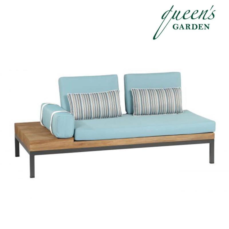garten lounge bank mit kissen combi. Black Bedroom Furniture Sets. Home Design Ideas