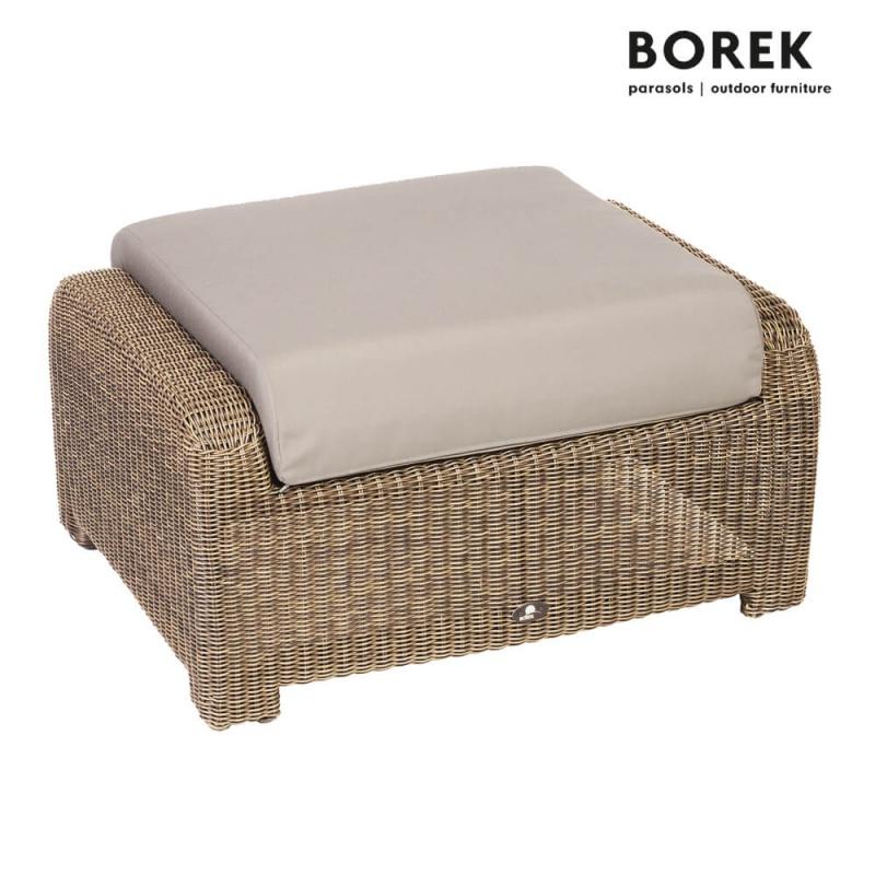 gartenhocker lugano aus geflecht alu. Black Bedroom Furniture Sets. Home Design Ideas
