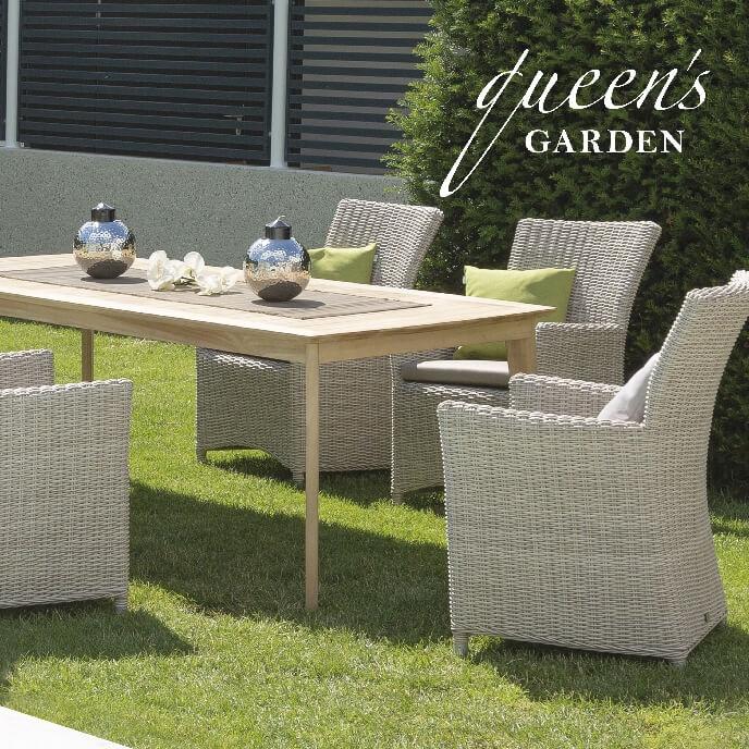 & Tisch  Polyrattan & Alu  Queens Garden  Modena Sitzgruppe