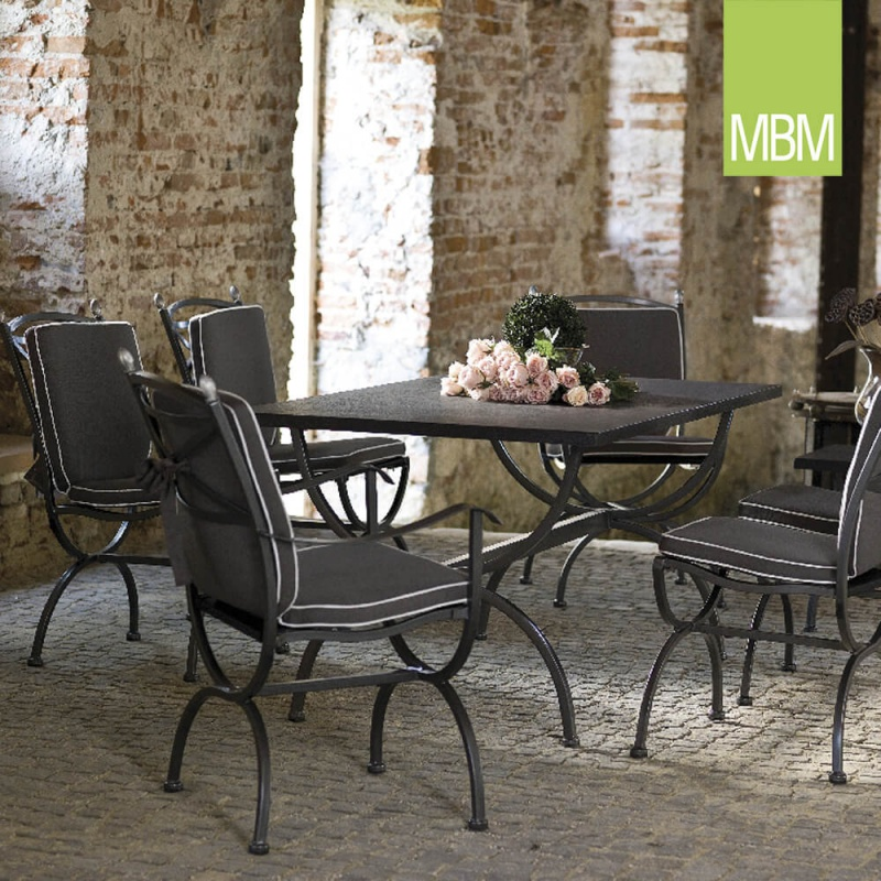 gartenm bel set mit gartenst hlen tisch medici schmiedeeisen. Black Bedroom Furniture Sets. Home Design Ideas