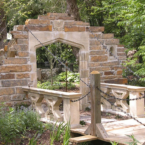 gartenruine mit zugbr cke langford bridge. Black Bedroom Furniture Sets. Home Design Ideas