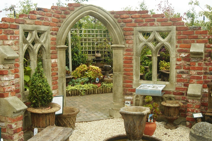 gothic folly garten ruine exbury church. Black Bedroom Furniture Sets. Home Design Ideas