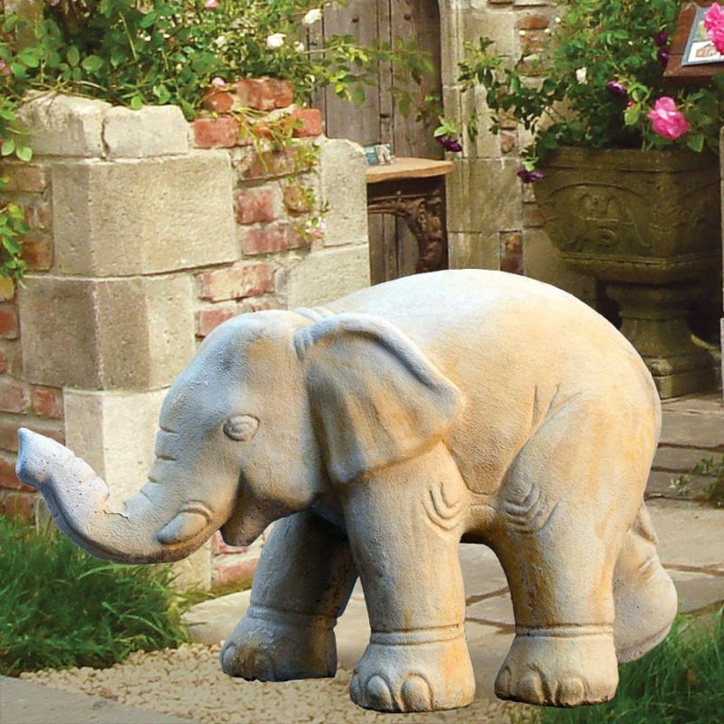 gro e elefant stein figur simba. Black Bedroom Furniture Sets. Home Design Ideas