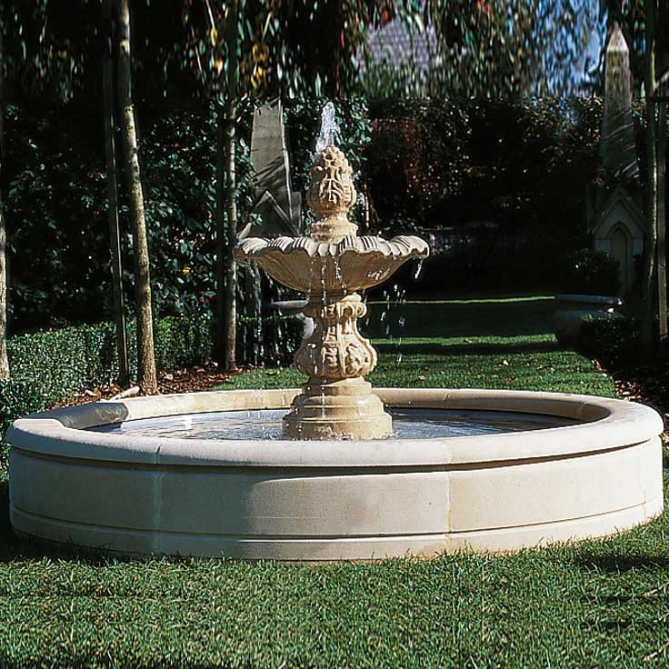 gro er garten springbrunnen sandstein. Black Bedroom Furniture Sets. Home Design Ideas