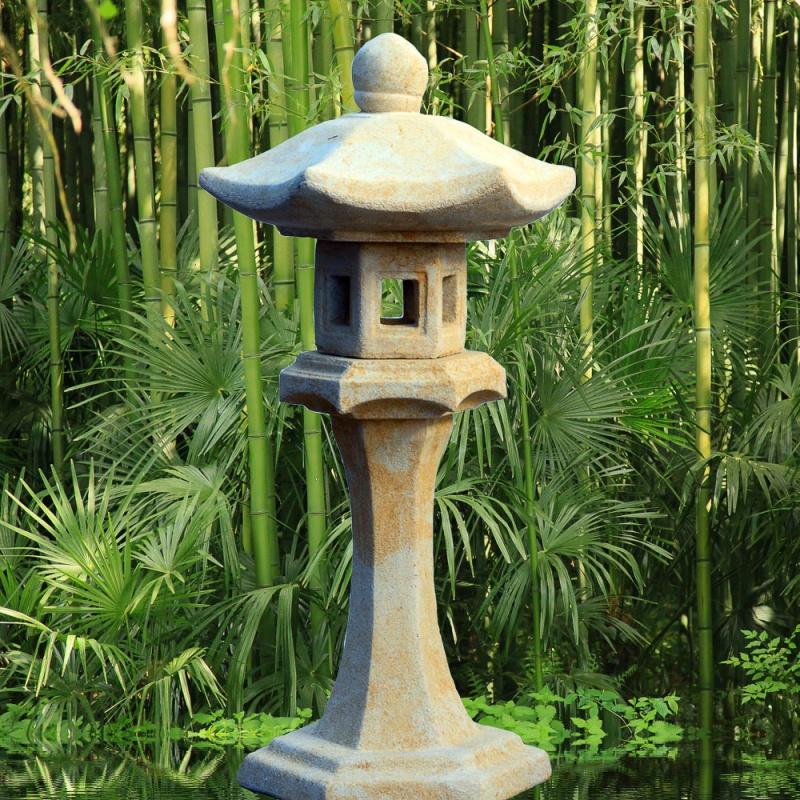 japanische garten stein lampe hiragana