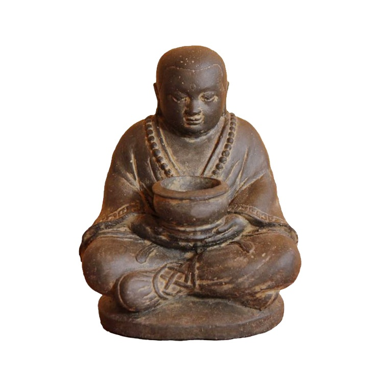 kleine sitzende deko buddha figur f r innen. Black Bedroom Furniture Sets. Home Design Ideas