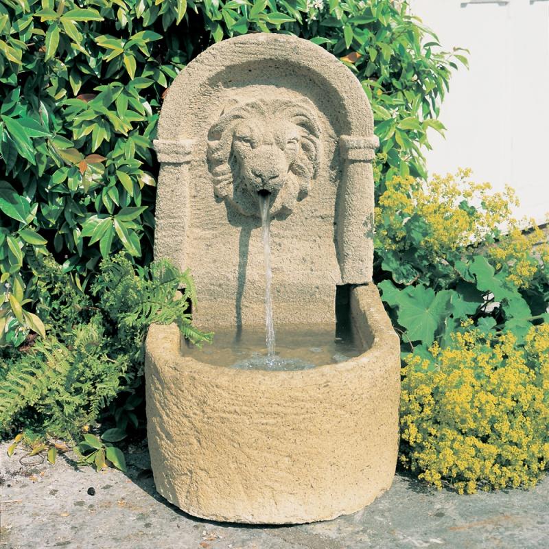 Kleiner deko gartenbrunnen mit l we favory for Deko gartenbrunnen