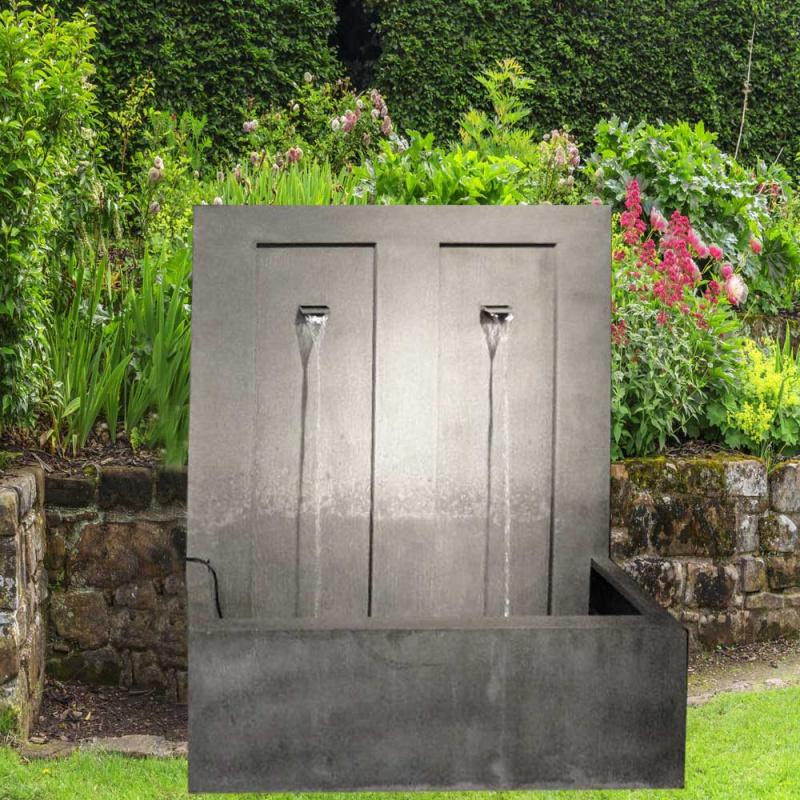 Moderner Zink Wand Brunnen - Moderno • Gartentraum.de