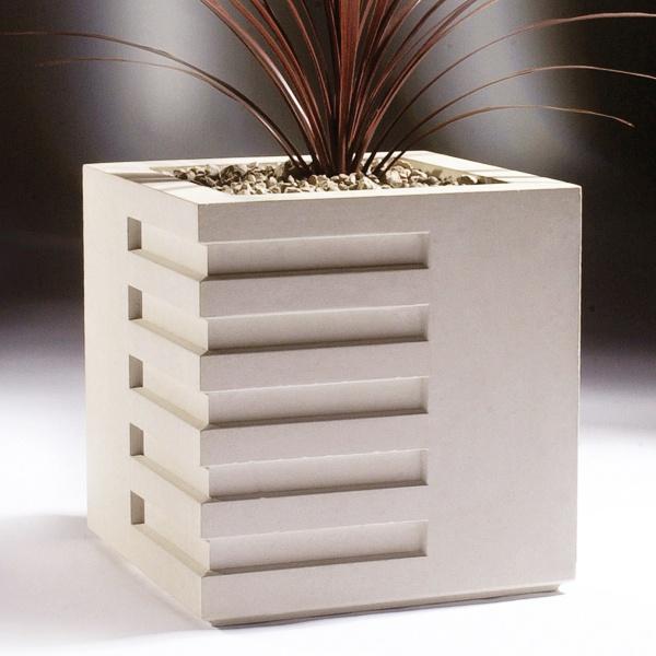 modernes pflanzgef eckig modern art. Black Bedroom Furniture Sets. Home Design Ideas
