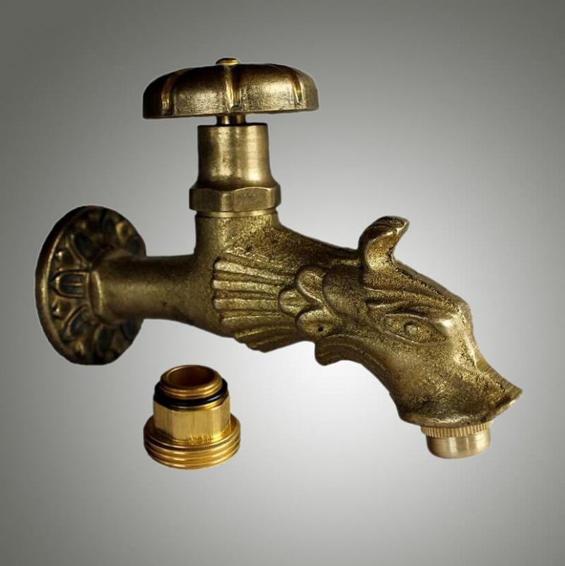 Nostalgischer Brunnen Wasserhahn Messing antik - Wasserhahn
