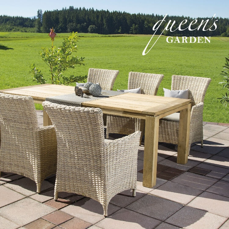 garten sessel holztisch set campo. Black Bedroom Furniture Sets. Home Design Ideas