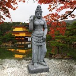Stein figur asiatische gottheit shiva for Asiatische garten