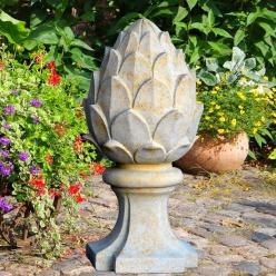 Gro e garten deko pinie aus stein umbria for Gartendekor pinie