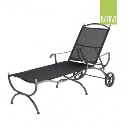 gartenliege samora mit r dern grau. Black Bedroom Furniture Sets. Home Design Ideas