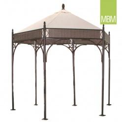 pavillon mit dach rosanna aus metall mbm. Black Bedroom Furniture Sets. Home Design Ideas