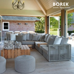 Moderne garten garnitur papillon aus eisen textil for Loungemobel outdoor kissen