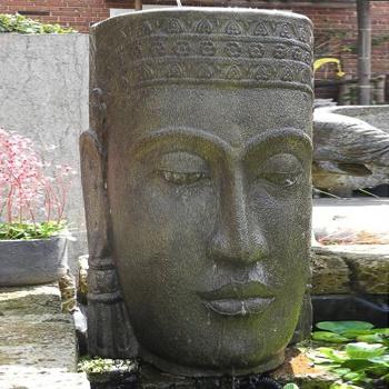 Au ergew hnliches wasserspiel mit buddha - Gartenbrunnen buddha ...