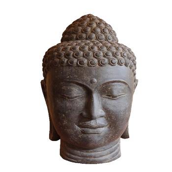 einzigartiger buddhakopf aus steinguss kashyapa. Black Bedroom Furniture Sets. Home Design Ideas