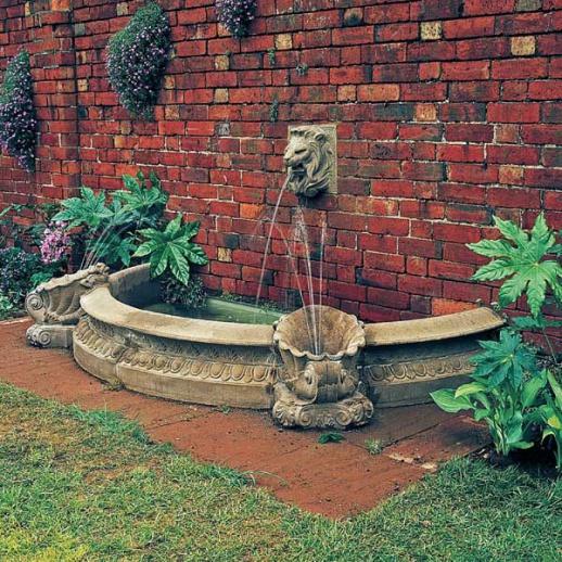 Garten Brunnen Umrandung Sandstein • Gartentraum.de