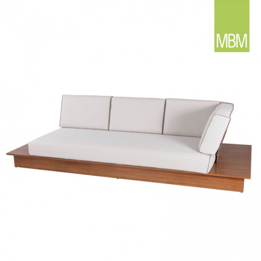 garten sofa mit auflage la villa von mbm. Black Bedroom Furniture Sets. Home Design Ideas
