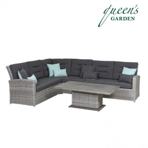 Gartenmobel Outlet Piding :  & Tisch  Alu & Kunststoff  grau  wasserfest  Comodo Lounge Set