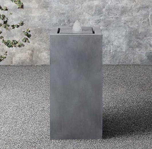Moderne zink brunnen s ule cubo - Moderne zimmerbrunnen ...