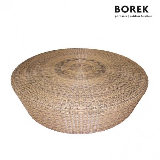Gartenmobel Vintage Grau :   rund  Borek  Polyrattan & Alu  123cm  Brio Couchtisch