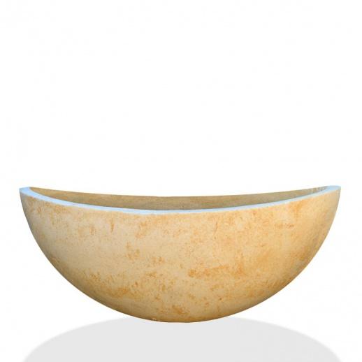 ovale pflanzschale aus stein calyria. Black Bedroom Furniture Sets. Home Design Ideas