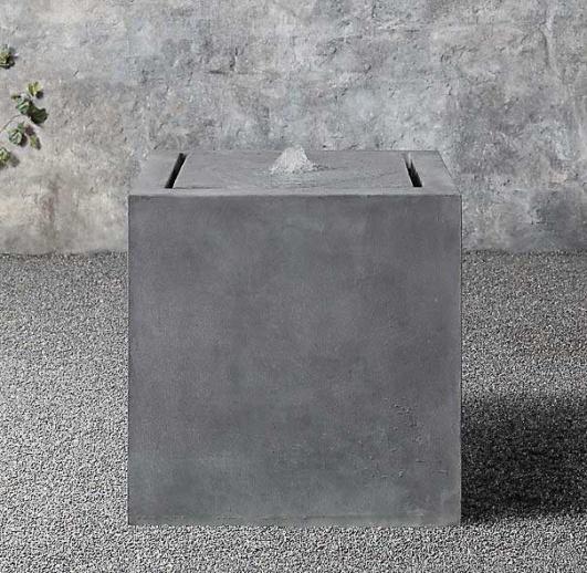 zink kubus quellstein eckig colonna. Black Bedroom Furniture Sets. Home Design Ideas