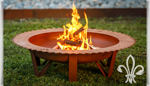 Design Stahl Feuerschale Optional Mit Grillrost Gartentraum De