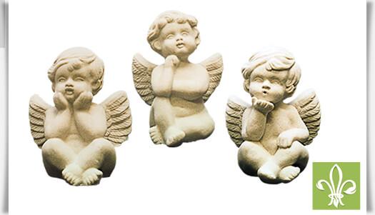 deko engel skulpturen steinguss engeltrio. Black Bedroom Furniture Sets. Home Design Ideas