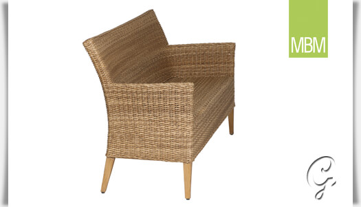 gartenbank 3 sitzer madrigal von mbm. Black Bedroom Furniture Sets. Home Design Ideas