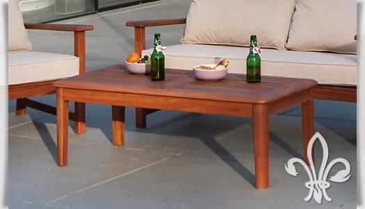 gartenlounge tisch newton aus cornis holz. Black Bedroom Furniture Sets. Home Design Ideas