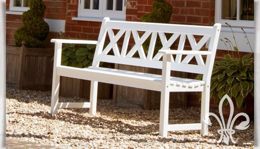 Gartenmöbel Landhaus hochwertige weiße 3 sitzer gartenbank hooke gartentraum de