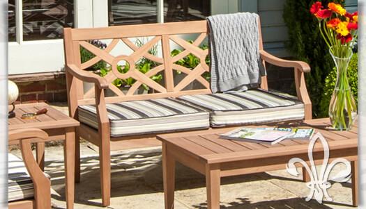 2 Sitzer Gartensofa Davy Aus Mahagoni Holz Gartentraum De