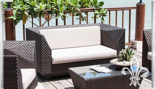 outdoor 2 sitzer sofa lovelock mit kissen. Black Bedroom Furniture Sets. Home Design Ideas