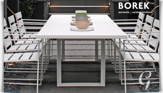 gro er gartentisch samos aus aluminium. Black Bedroom Furniture Sets. Home Design Ideas