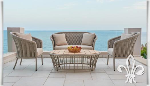 design gartensessel austen in beige alu seil. Black Bedroom Furniture Sets. Home Design Ideas