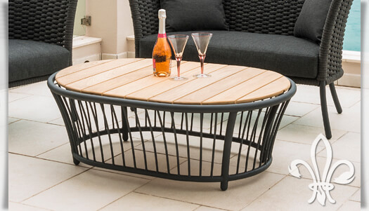 outdoor loungetisch austen aus alu seil holz. Black Bedroom Furniture Sets. Home Design Ideas