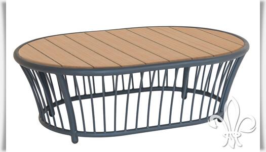 Outdoor Loungetisch »Austen« aus Alu, Seil & Holz • Gartentraum.de