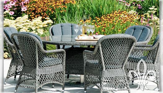 gartentisch bateson in grau 150cm rund. Black Bedroom Furniture Sets. Home Design Ideas