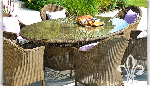 Gartentisch Dawkins Oval Mit Glasplatte Gartentraum De